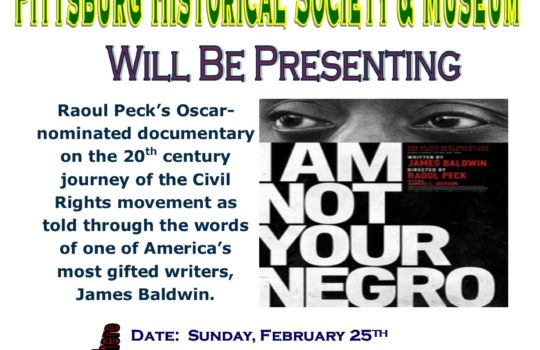 Movie: I Am Not Your Negro. Sunday, February 25, 2018. 2-4pm