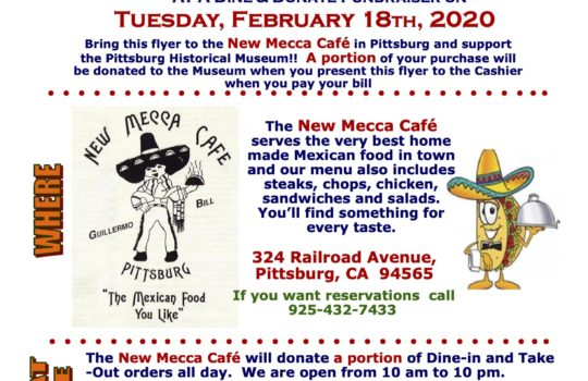 Dine & Donate at New Mecca, February 18, 2020.
